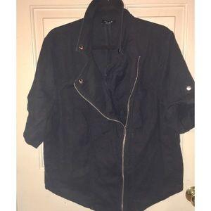 Torrid Short Sleeve moto jacket Sz 1 black